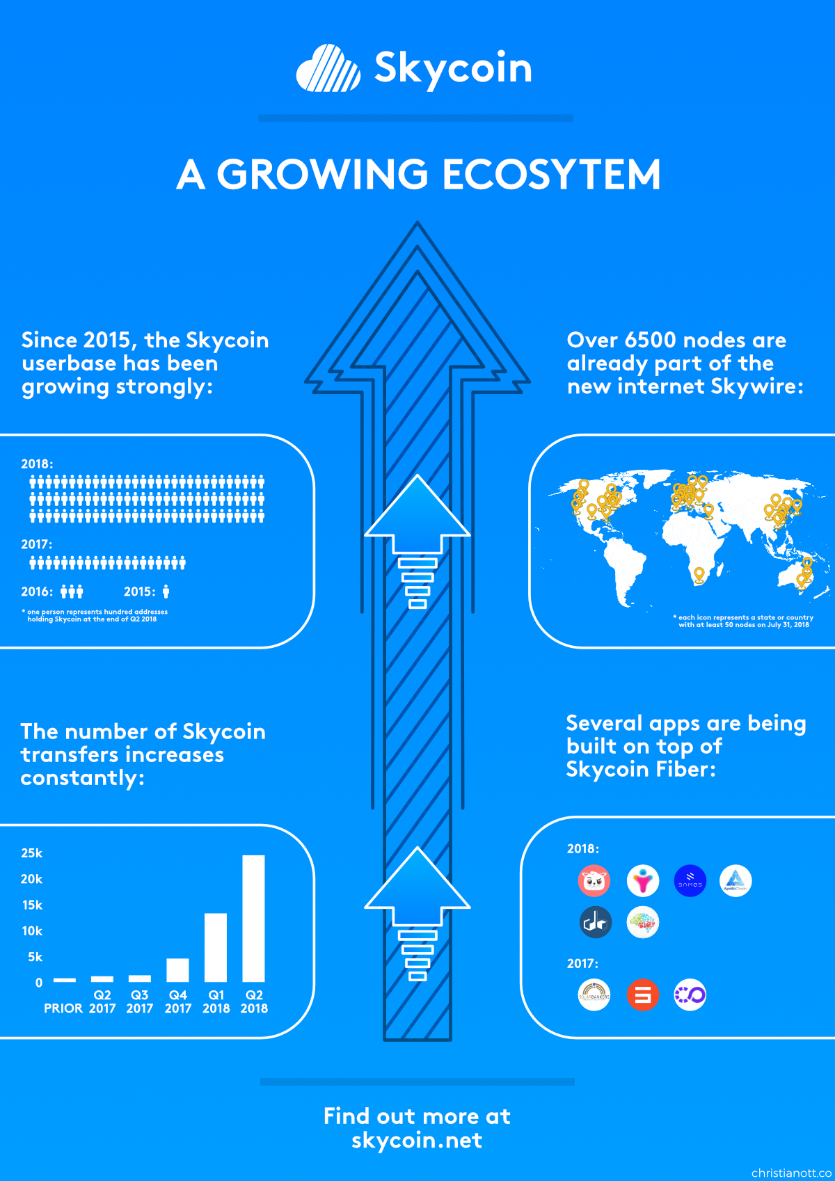 Skycoin poster about the growth of Skycoin